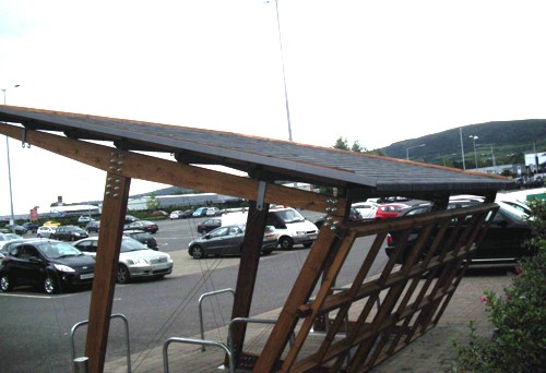 Bespoke Timber Cycle Shelter Installed at Chain Reaction Cycles