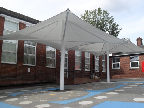 Tensile Umbrellas - Hucklow Primary School