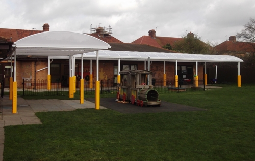 Wall Mounted Canopy - Just Learning Day Nursery