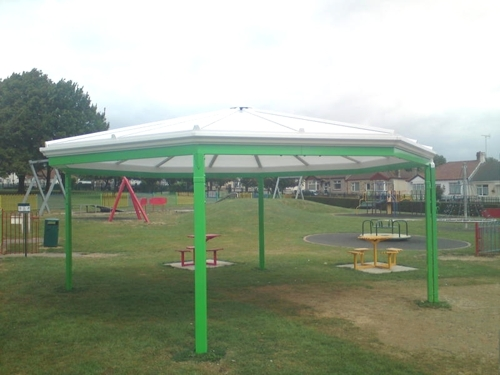 Rayleigh Town Council - Bespoke Free Standing Canopy