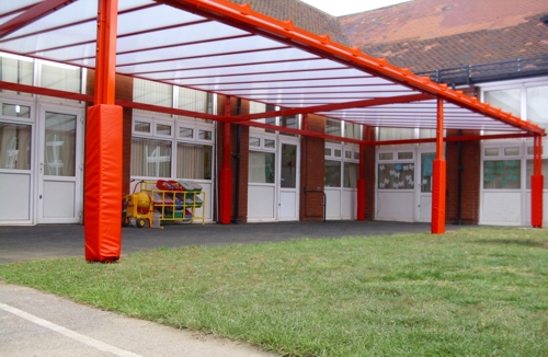 Intake Primary School, South Yorkshire - Grange Mono-Pitch Freestanding Canopy