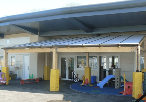 Tarnhow Mono Pitch Free Standing Canopy - Park Community Primary School