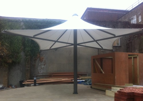 Case Study: Tune Hotel Group - Cycle Shelter and Tensile Umbrella Canopy