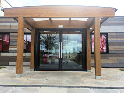 Bespoke Timber Entrance Canopy | Able Canopies Ltd.