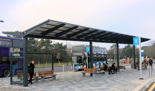 Bespoke Solar Bus Shelter Canopy | Able Canopies Ltd.