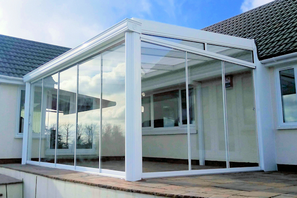 Glass Room Veranda Upgrade - Glass Sliding Doors - Able Canopies Ltd.