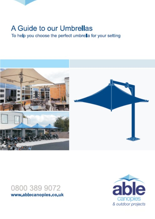 A Guide to our Umbrellas - Able Canopies Ltd.