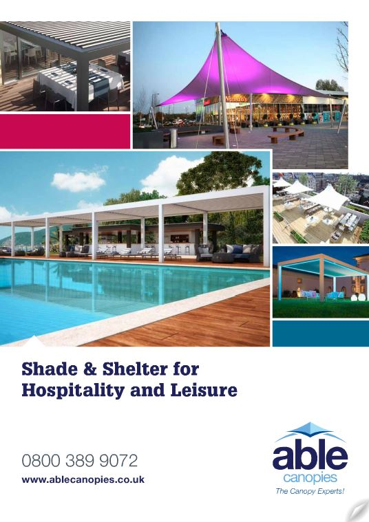 Able Canopies' Hospitality and Leisure Brochure