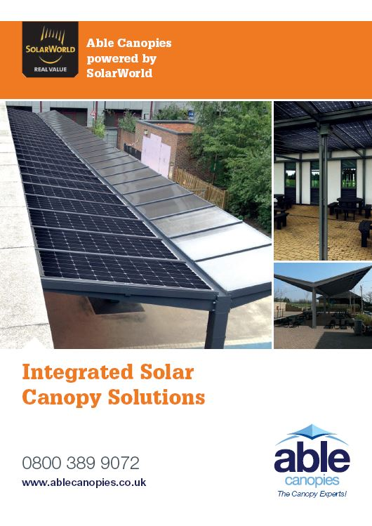 Solar Carport u0026 Canopy Brochure from Able Canopies ... & Solar Carports u0026 Solar Canopies u2013 Create Shade Shelter and Energy ...