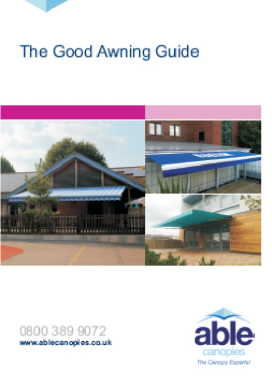Free Download: The Good Awning Guide - Able Canopies Ltd.