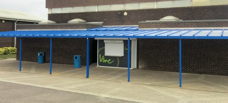 Tuck Shop Canopy installed at Cecil Jones Academy in Essex