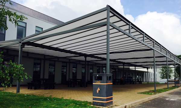 Large Outside Dining Canopy Installed at RSA Academy in West Midlands