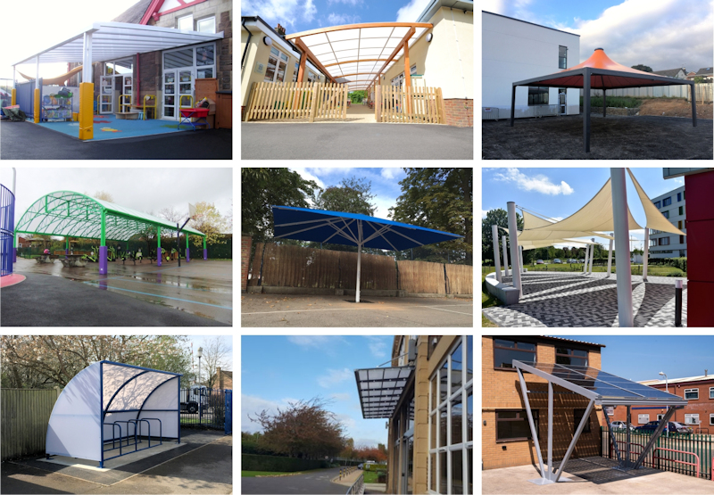 Canopies and Shelter for Schools in Suffolk