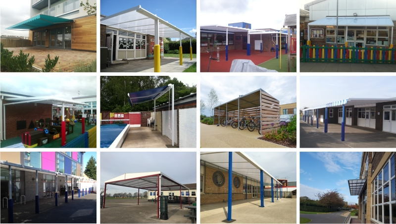 Cambridgeshire School Canopy Installations