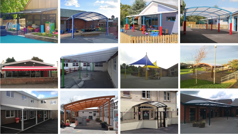 Devon School Canopy Installations