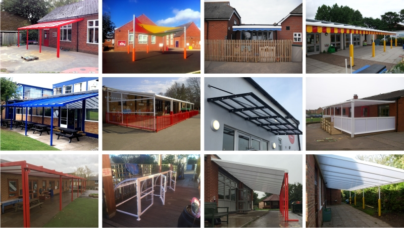 Norfolk School Canopy Installations
