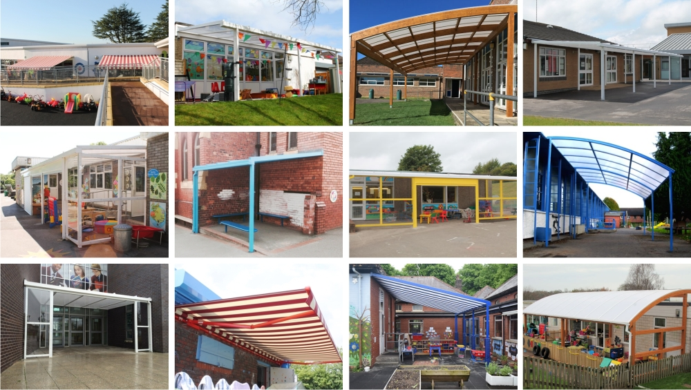 South West & Wales School Canopy Installations - Able Canopies Ltd.