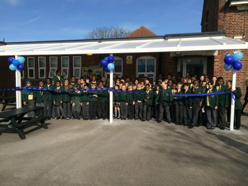 The James Cambell Primary School in Dagenham Launch their new outdoor learning area