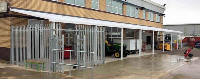Commercial Canopy | Humberside Airport | Able Canopies & Projects