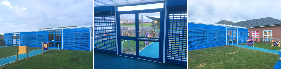 Wall Mounted Canopy | Roller Shutters | Fire Doors | Soft Play Safety Surfacing | Able Canopies & Projects
