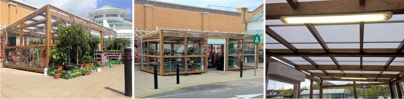 Timber Sales Canopy | Morrisons | Able Canopies & Projects