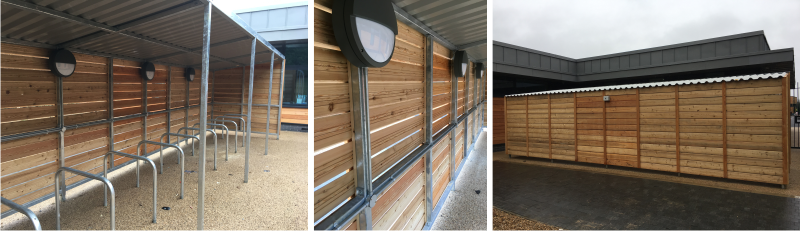 Timber Cycle Shelter | Orchardside School | Able Canopies & Projects