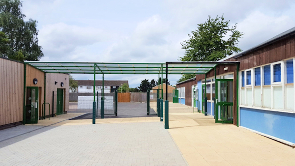 Canopies for Schools - Shelter Between Classrooms