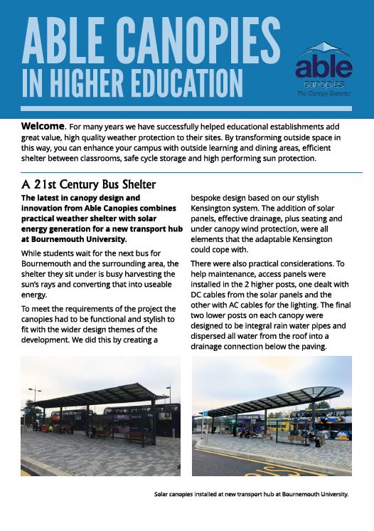 Able Canopies in Higher Education