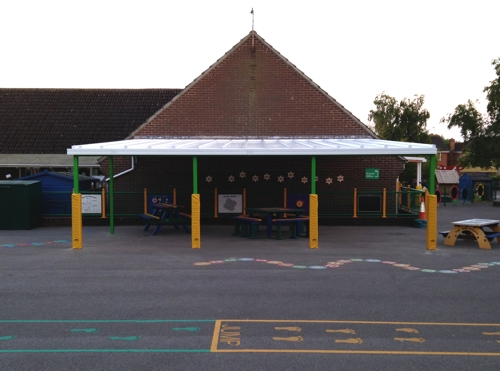 School Canopies | Wall Mounted Canopies for Schools