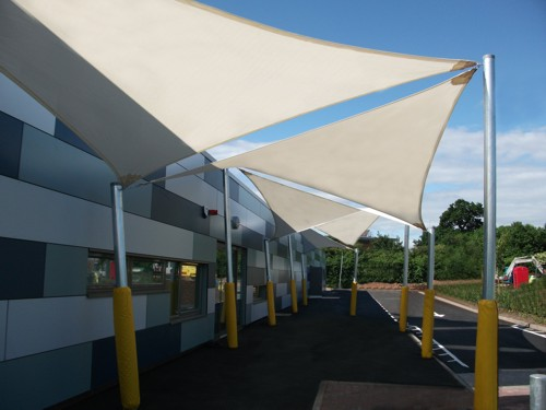 A Recent Shade Sail Case Study & Shade Sails - Commercial Grade Fabric - Durable Steel Posts ...