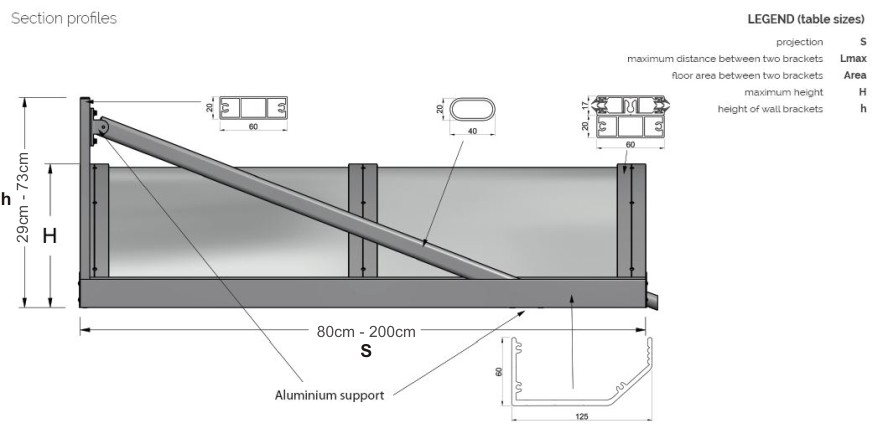 The Colwyn Entrance Canopy Technical Drawing