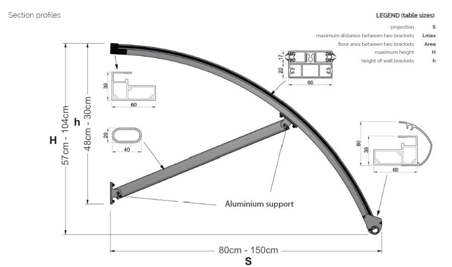 The Ferndale Entrance Canopy Technical Drawing