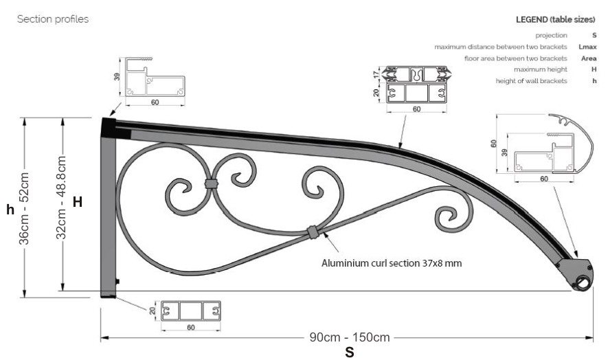 The Earlswood Entrance Canopy Technical Drawing