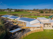 Canopies: Six timber canopies installed at a school in Devon