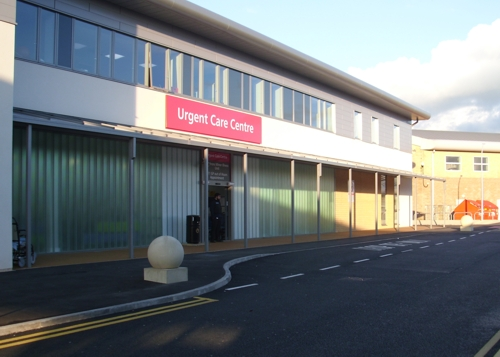 Hospital Wall Mounted Canopy - Burnley Integrated Care Centre, Lancashire