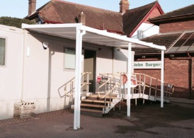 Surgery Wall Mounted Entrance Canopy - The Glebe Surgery, West Sussex