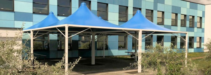 Tensile Fabric Structures & Tensile Fabric Structures and Canopies - Waterproof u0026 Stylish ...
