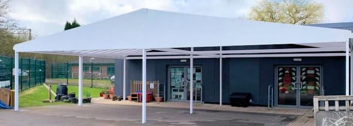 Commercial Free Standing Canopies Steel Timber And