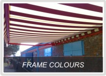 Awning Frame Colour Options
