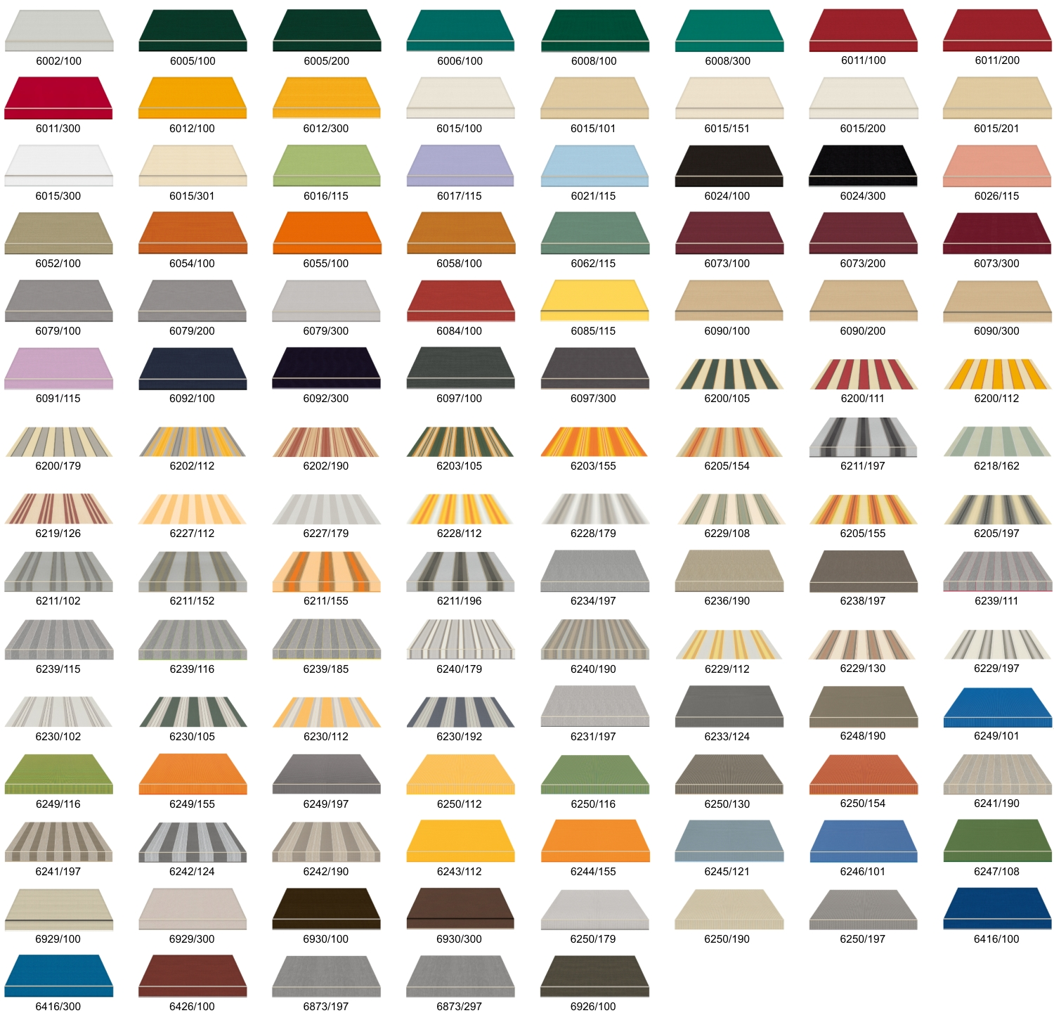 Langton Awning Fabric Colour Options