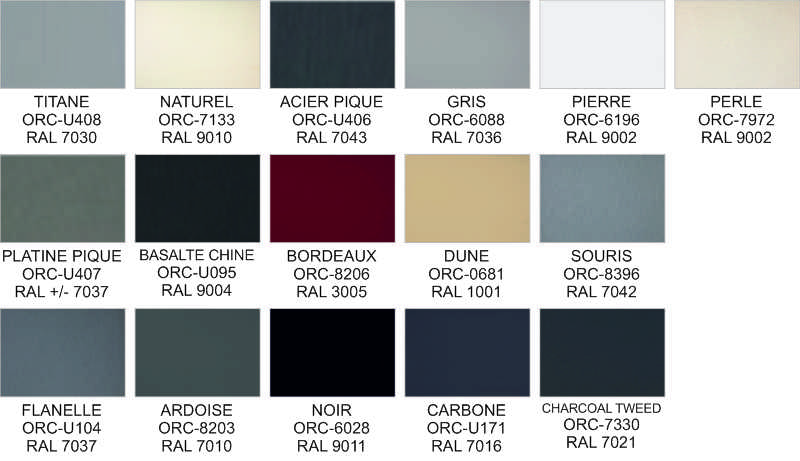 Awning Fabric Colour Options - Dickson - Able Canopies Ltd.