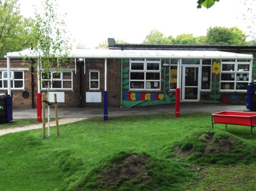 Totley Primary School Sheffield Wall Mounted Canopy