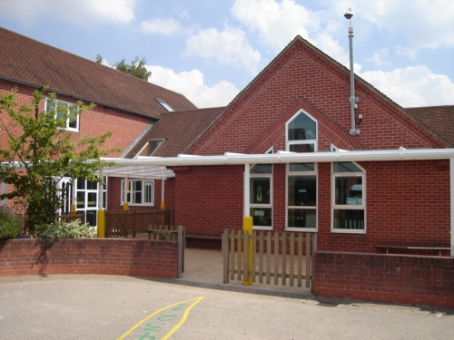 St Gregory Cevc Primary School Wall Mounted Canopy Suffolk