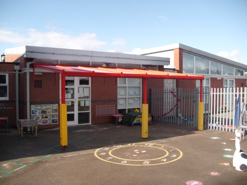 Mendell Primary School Wirral Wall Mounted Canopy