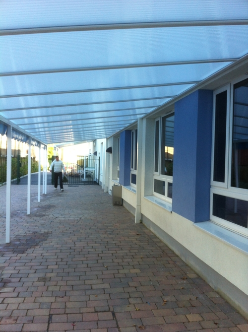 Beecroft Garden Primary School Wall Mounted Canopies