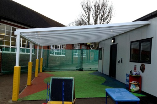 Summerside Primary School - Wall Mounted Canopy & Summerside Primary School Barnet - Wall Mounted Canopy - Able ...