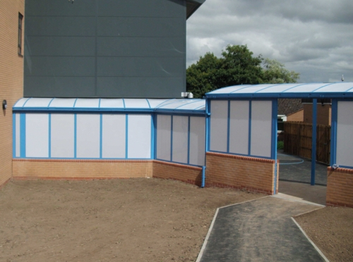 Ysgol Bryn Alyn High School Free Standing Walkway Able