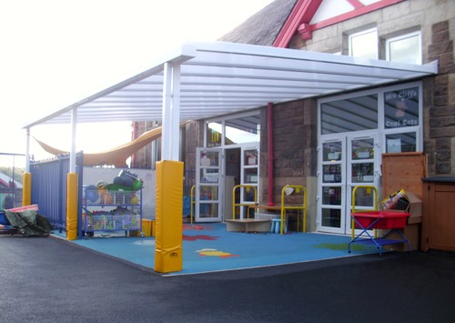 New Park Community Primary School Harrogate - Wall Mounted Canopy - Able Canopies & New Park Community Primary School Harrogate - Wall Mounted Canopy ...
