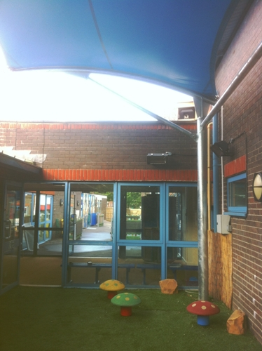 Dysart School Free Standing Tensile Canopy Able Canopies