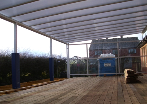 Burgh By Sands Primary School Wall Mounted Canopy Able
